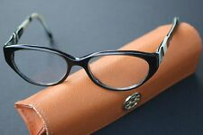 Tory Burch Eyeglasses Black Cream Browns Horn Style Turtle Shell with Case