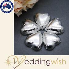 100 Silver Heart Chocolates - Wedding Bomboniere Quality Aus Chocolate