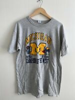 Vintage University Of Michigan Champions Of The West T-shirt Size XL Champion