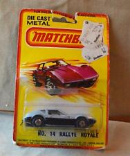 New Original MATCHBOX LESNEY DieCast Superfast 1980 #14 RALLYE ROYALE Silver/Blu