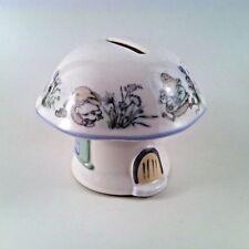 Elizabethan Staffordshire Fine Bone China Mushroom Coin Bank w/ Mice