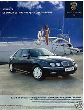 Publicité Advertising 2002 Rover 75 2.0 CDT Common Rail