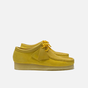 Clarks Originals Wallabee Men's Suede Shoes Yellow Combi