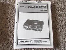New listing Marantz Superscope C-206Lp C-207Lp Cassette Original Service Repair Manual