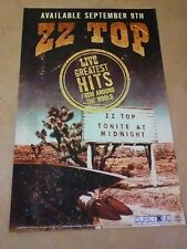 POSTER by ZZ TOP live greatest hits Tonight at Midnight for the new album cd