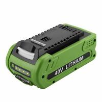 40V 2500mAH Replacement Lithium Battery GreenWorks G-MAX 29462 29472 Power Tools