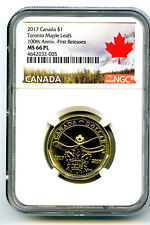 2017 CANADA $1 TORONTO MAPLE LEAFS NGC MS66 PL DOLLAR LOON LOONIE FIRST RELEASES