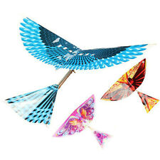 10Pcs Rubber Band Powered Wind-up Flying Bird Glider Holiday Gift Child Kid