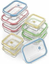 18 Piece Glass Food Storage Container Set w/ Locking Lids Airtight Oven Freezer