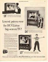 1954 ORIGINAL VINTAGE RCA VICTOR TV MAGAZINE AD