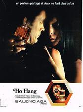 PUBLICITE ADVERTISING 074  1972  BALANCIAGA eau de toilette homme & femme HO HAN