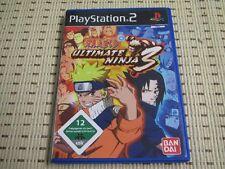 Naruto Ultimate Ninja 3 para PlayStation 2 ps2 PS 2 * embalaje original *