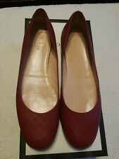 Gucci Micro-Guccissma Loafers Ballet Flats Shoes Size 37.5
