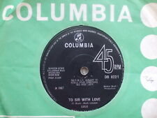 Lulu - To Sir With Love / Let's Pretend - Columbia DB 8221 EX- / VG+