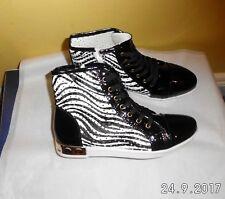 Faux Leather zebra print Trainer Boots SIZE: UK 5 EU 38