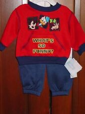 DISNEYS MICKEY INFANT BOYS 2 PC SWEAT SUIT OUTFIT SIZE 3-6 MONTHS NEW WITH TAGS
