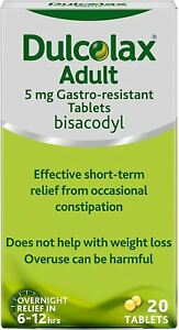 2x10 Dulcolax Adult Constipation Relief Laxative Gastro Resistant 5mg 20 Tablets