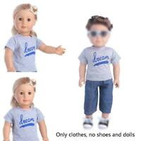 Doll Clothes Set Outfits Tops Pant For 18 inch Our Generation B5R1