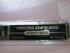 hobby/jewelry making../ piercing saw blades  3/0 round back