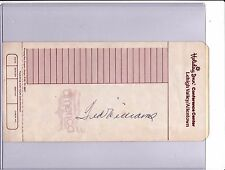 Ted Williams Autograph Allentown PA Hotel Receipt SGC