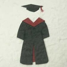 PK 3 RED AND BLACK GRADUATION GOWNS FOR CARDS
