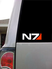 "Mass Effect N7 - 2-1/4"" x 7"" Vinyl Decal / Sticker - Car Decal, Macbook"