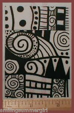 ATC size Deep Etch UM Rubber Stamp Molding Mat 4 PMC Polymer Art Clay Pattern 2