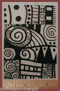 Spiral Dot Bold Graphic Unmounted Texture Rubber to Stamp on Paper, Clay, Fabric