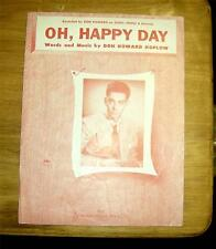 Sheet Music Oh , Happy Day  Don Howard  1952