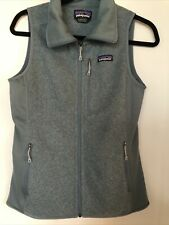 "NNT PATAGONIA ""BETTER SWEATER"" Vest Women's Small Sage Green Full Zip 3 Pockets"