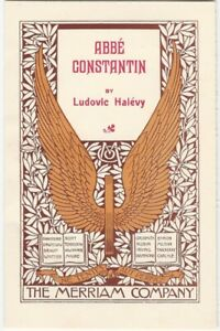 1900s Beautiful Decorated Title Page Abbe Constantin Novel by Ludovic Halevy