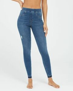 Spanx  Distressed Ankle Skinny Jeans Small