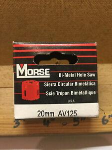 """Vintage Morse 25/32""""-20mm Master Cobalt Bi Metal Hole Saw Cutter AV125 USA"""
