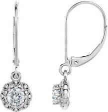 Forever One ™ MOISSANITE & 1/8 CTS DIAMANT Earrings in 14k Or Blanc