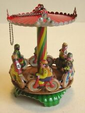 Karussell Radrennfahrer aus Blech zum Aufhängen, Blechspielzeug