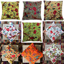 New_Indian Cotton Kantha-Work Cushion-Cover Decorative Square Pillow-Case-Decor