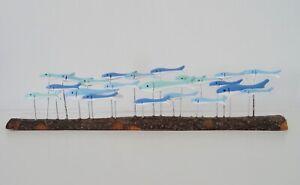Fish on long rustic wood, Shoeless Joe, coastal inspired gift, Father's day gift