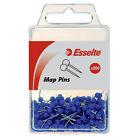ESSELTE MAP PUSH PINS PK200 BLUE COLOR 46718