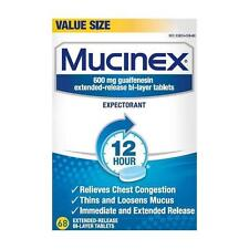 Mucinex 12 Hour 600mg Chest Congestion Expectorant 68 Tablets