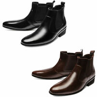 Mooda Mens Genuine Leather Chelsea Boots Formal Ankle Boots Dress Shoes MOOI