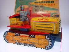GSR ROBOT *ROBOTRAC BULLDOZER WITH HORN* LINEMAR, BO OK, VERY GOOD IN GOOD BOX