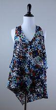 NWT Kay Celine Multicolor Sleeveless Ramona Shirt, Scarf Style, Small S ($108)