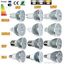 Bright CREE MR16 GU10 E27 E14 9W 12W 15W Dimmable LED Spotlight Bulb Lamp Light
