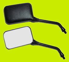 Paar Spiegel TÜV schwarz eckig Motorradspiegel Lenkerspiegel Rückspiegel M10 CB