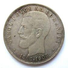 S0642 - Rumänien 5 Lei, Karl I 1866 - 1906, 1906, Silber