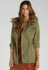 2015 NWT WOMENS BILLABONG A LA MILITARY JACKET $120 M seagrass quilted patch