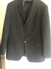 """Mans Taylor Wright Black With Blue Pinstripe Jacket 44"""" Chest"""
