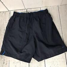 Speedo Mens Blue Swim Shorts Size M Lined Drawstring Elastic Waist