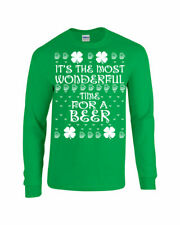 St Patrick It's the Most Wonderful Time for a Beer Long Sleeve Tee Shirt 1795