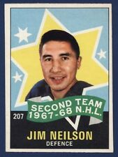 "1968-69 O-Pee-Chee of JIM NEILSON ""All Star"" #207 in EXMT Rangers!"